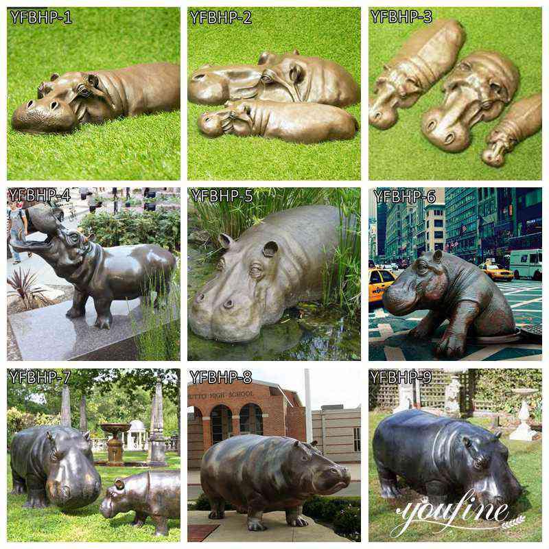 outdoor hippo statue