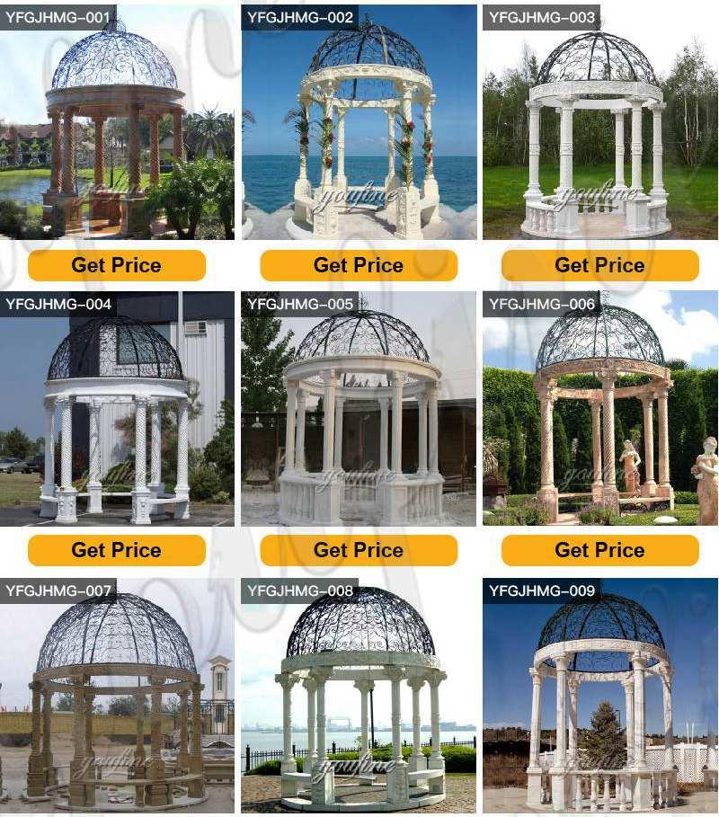 outdoor marble gazebo designs