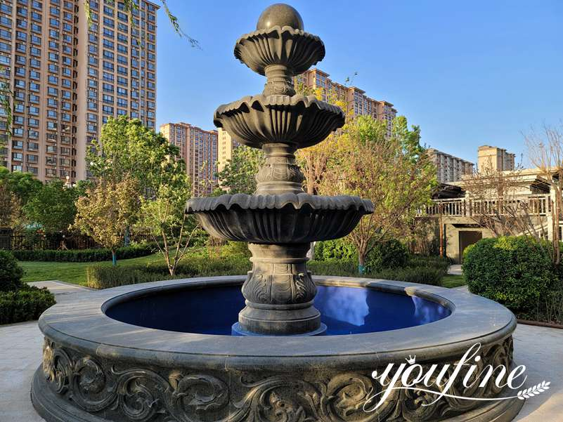 three tiered fountains outdoor