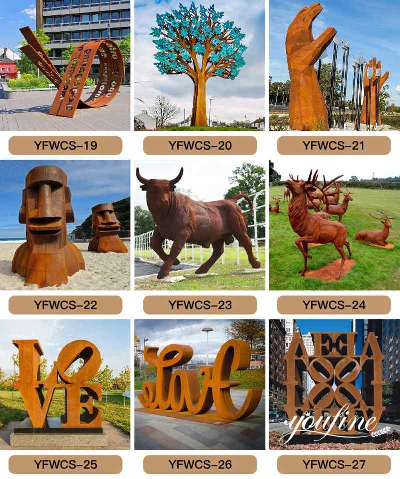 1 rust garden sculpture,