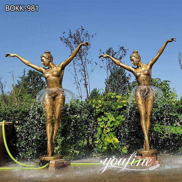 Life Size Bronze Ballerina Girl Fountain Garden Decor for Sale BOKK-981