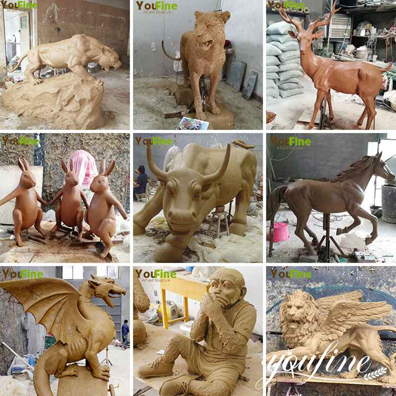Bronze animal statues for sale