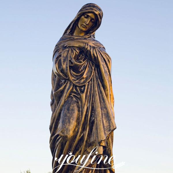 Outdoor Casting Bronze Mary Sculpture for Church Manufacturer BOKK-636