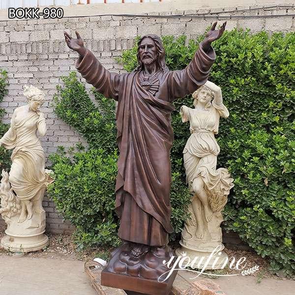 Catholic Life Size Bronze Jesus Christ Statue for Sale BOKK-980