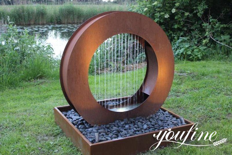 Corten Steel Fountain Garden Decor for Sale
