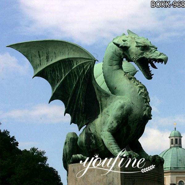 Large Size Bronze Western dragon Garden Decoration for Sale BOKK-968