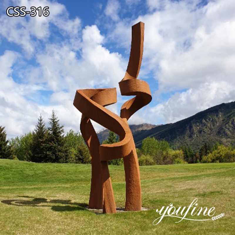 Large Outdoor Abstract Corten Garden Sculpture for Sale CSS-316
