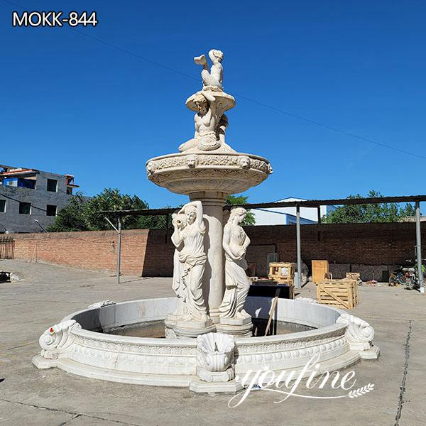 Large Outdoor Marble Garden Statues Fountain