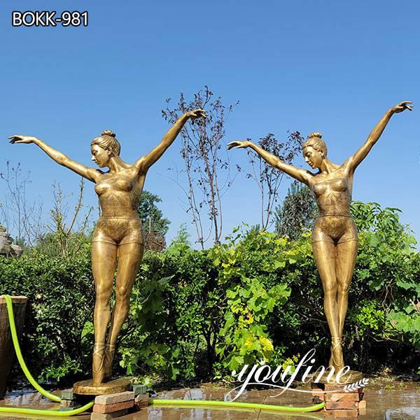 Life Size Bronze Ballerina Girl Fountain Garden Decor for Sale