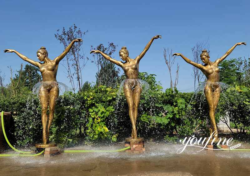 Life Size Bronze Ballerina Girl Fountain Garden Decor