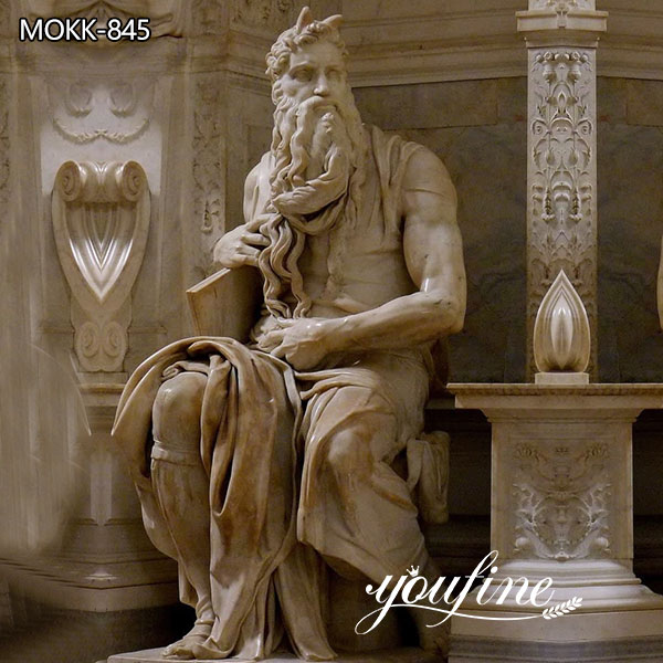 Famous Marble Statue Moses by Michelangelo for Sale MOKK-845