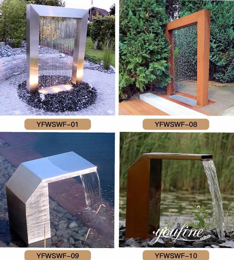 Modern Corten Steel Fountain Garden Decor for Sale