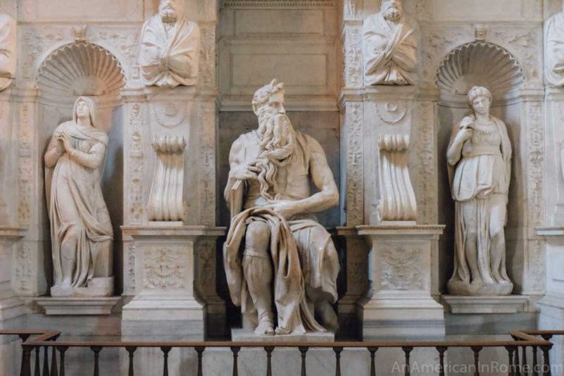 Moses by Michelangelo statue