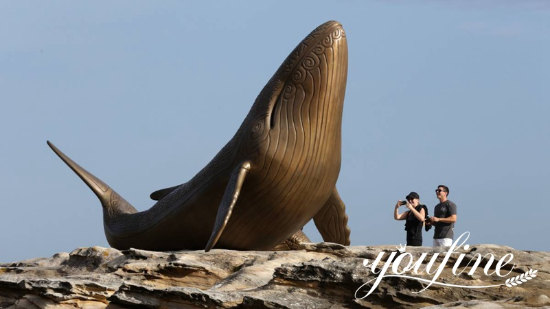 Seaside Large Bronze Dolphin Statue