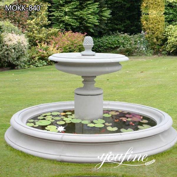 Simple Outdoor Marble Fountain Garden Decor Suppliers MOKK-840