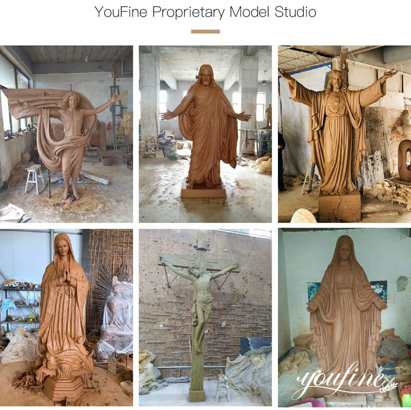 clay mold of jesus christ statue