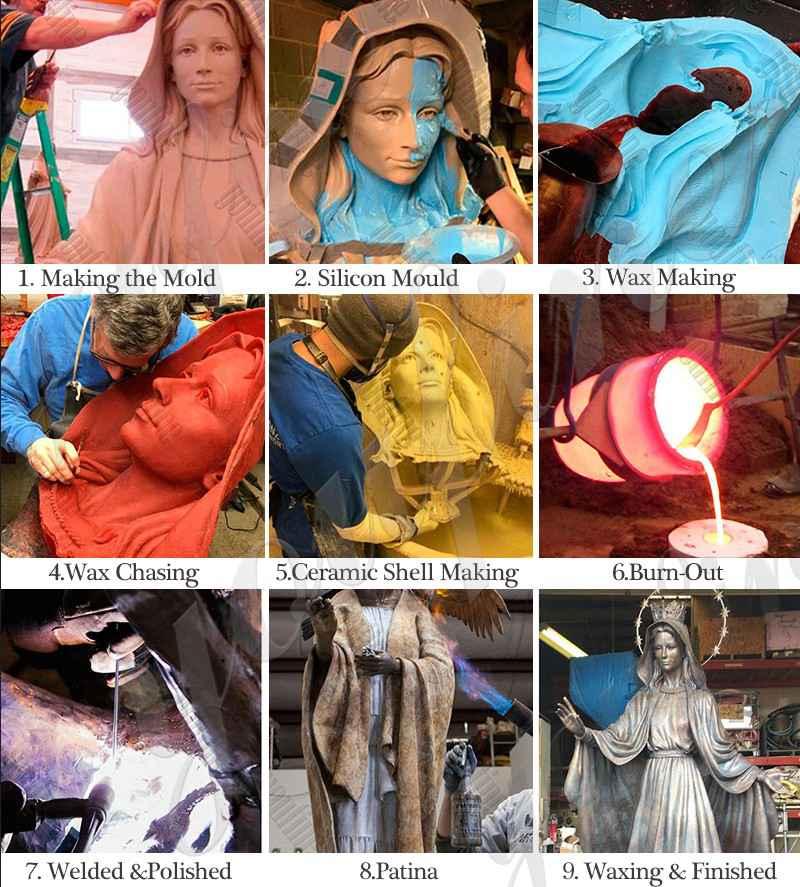 process of bronze jesus statue