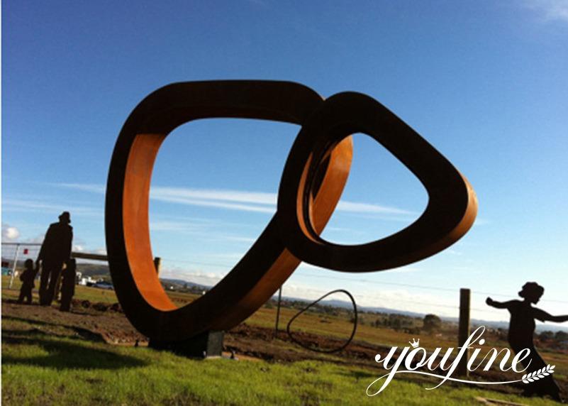 rusted steel sculpture