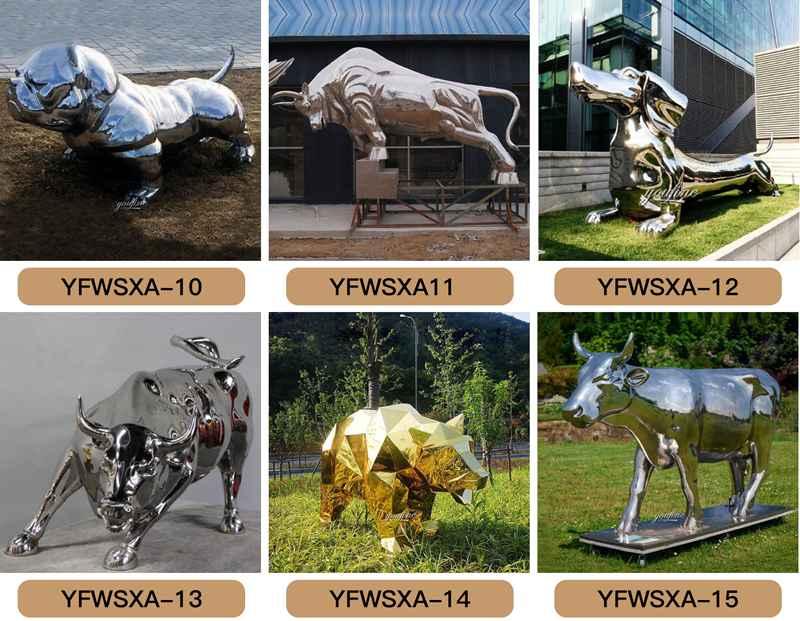 stainless steel garden animal sculpture