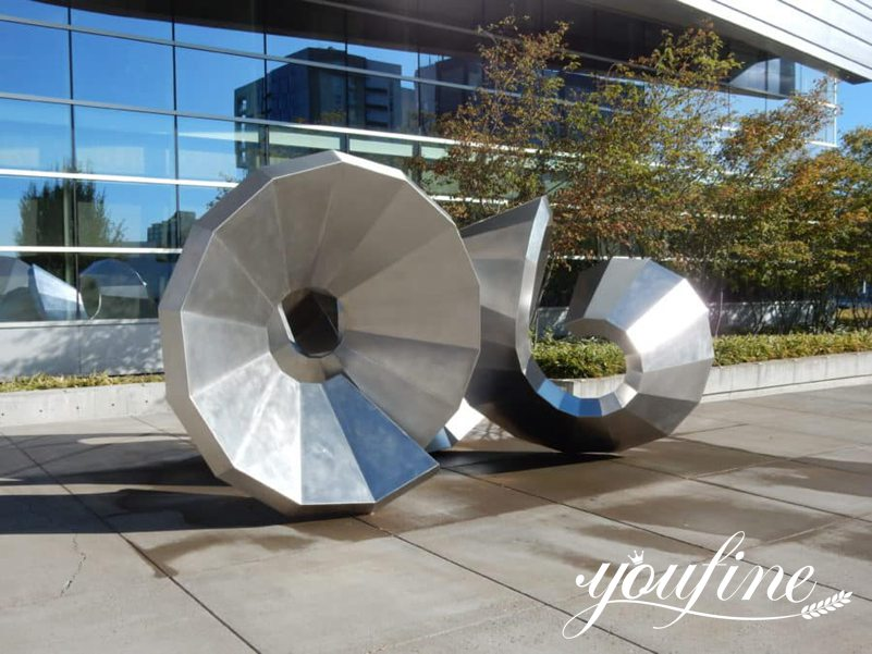 Abstract Large Stainless Steel Garden Sculpture