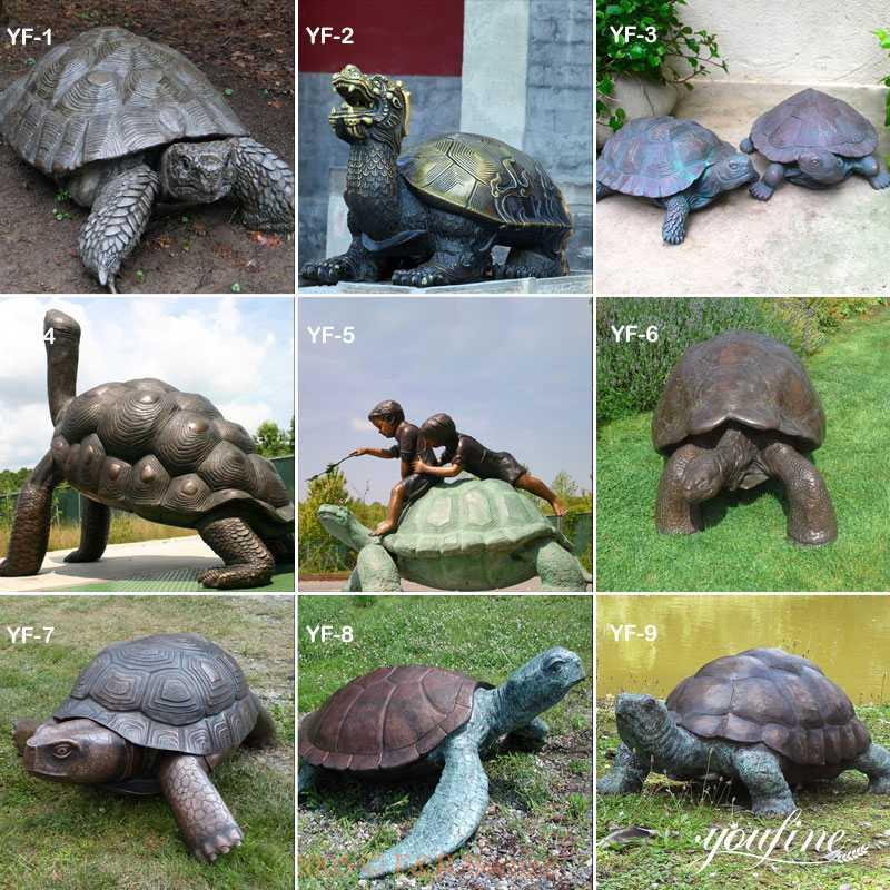 Bronze Tortoise Statue Garden Decor for Sale
