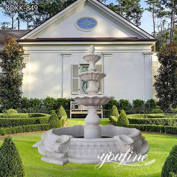 Home Garden Tiered Marble Water Fountain for Sale