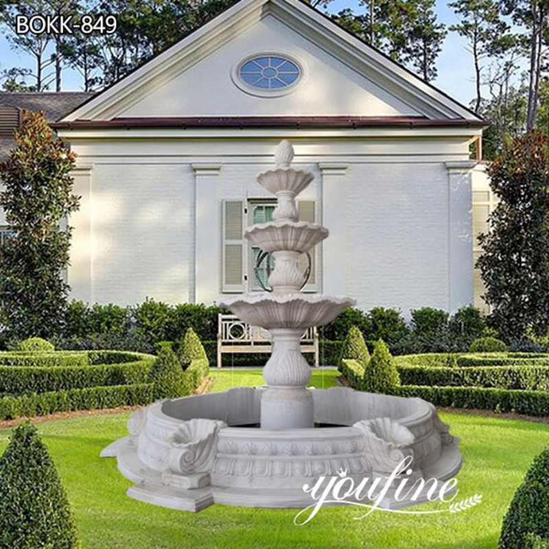 Home Garden Tiered Marble Water Fountain for Sale MOKK-849