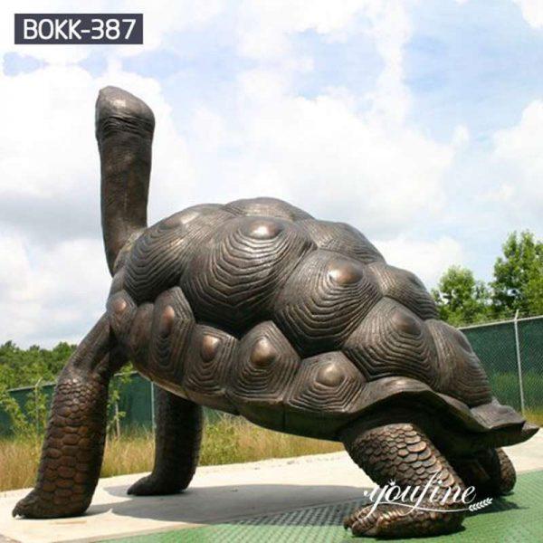 Large Bronze Tortoise Statue Garden Decor for Sale