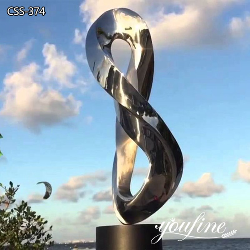 Large Metal Ring Outdoor Sculpture Modern Plaza Decor for Sale CSS-374