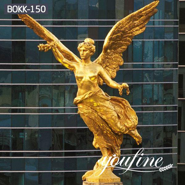 Large Size Golden Bronze Angel Sculpture for Sale MOKK-150