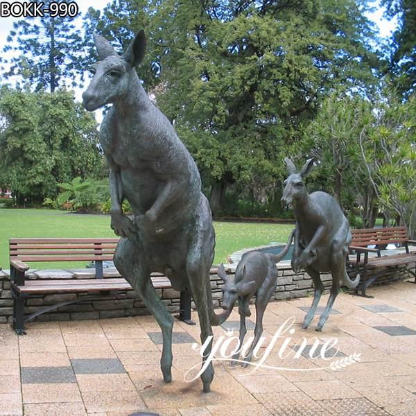 Bronze Kangaroo Sculptures Group Garden Decoration for Sale BOKK-990