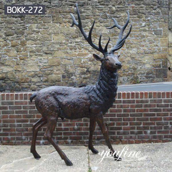 Life Size Bronze Stag Statue Garden Decor for Sale