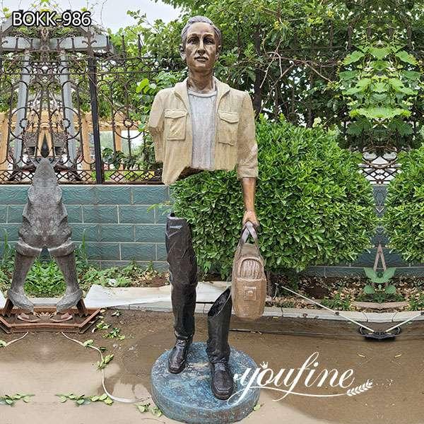Life Size Bronze Traveler Bruno Catalano Sculpture for Sale BOKK-986
