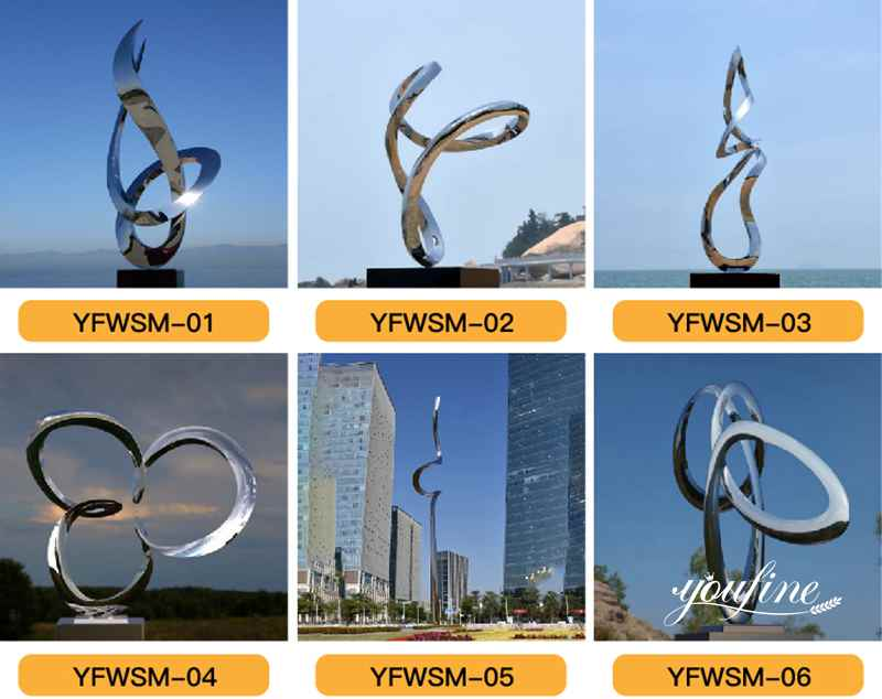 Metal Ring Outdoor Sculpture Modern Plaza Decor for Sale