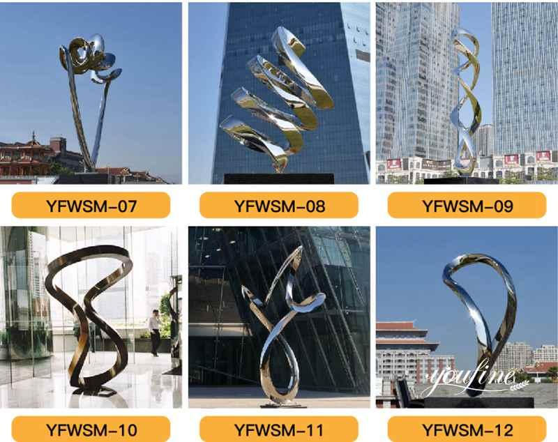 Metal Ring Outdoor Sculpture Modern Plaza Decor
