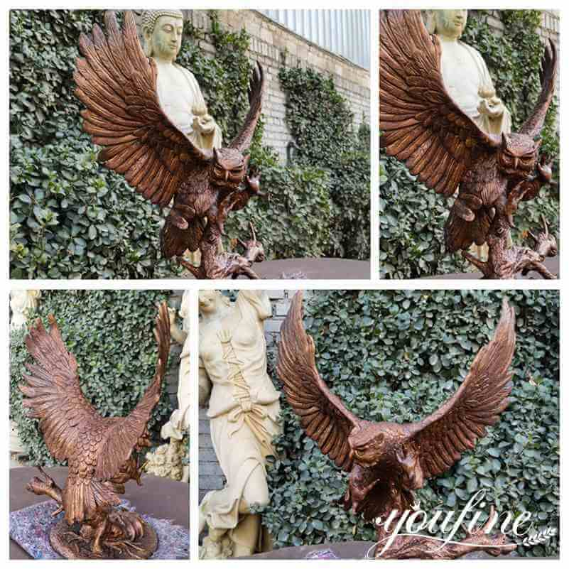 Outdoor Large Bronze Eagle Statue Home Decor Factory Supply