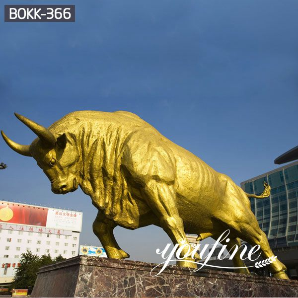 Super Large Bronze Bull Statue SquareDecoration BOKK-366