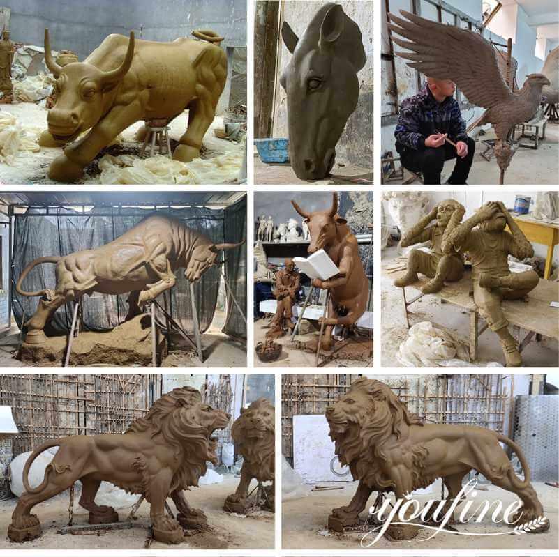 bronze animal statue clay molds