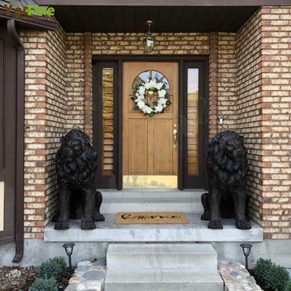 bronze lion statue for sale