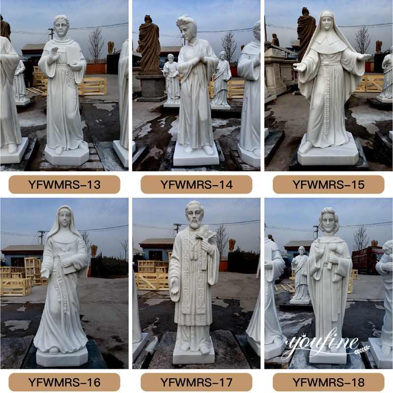 catholic stone statues