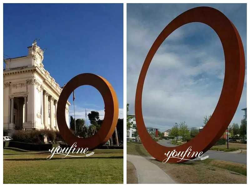 corten steel garden sculpture