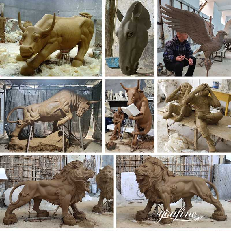 large animal clay mold