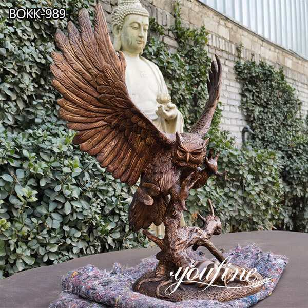 Outdoor Large Bronze Eagle Statue Home Decor Factory Supply BOKK-822