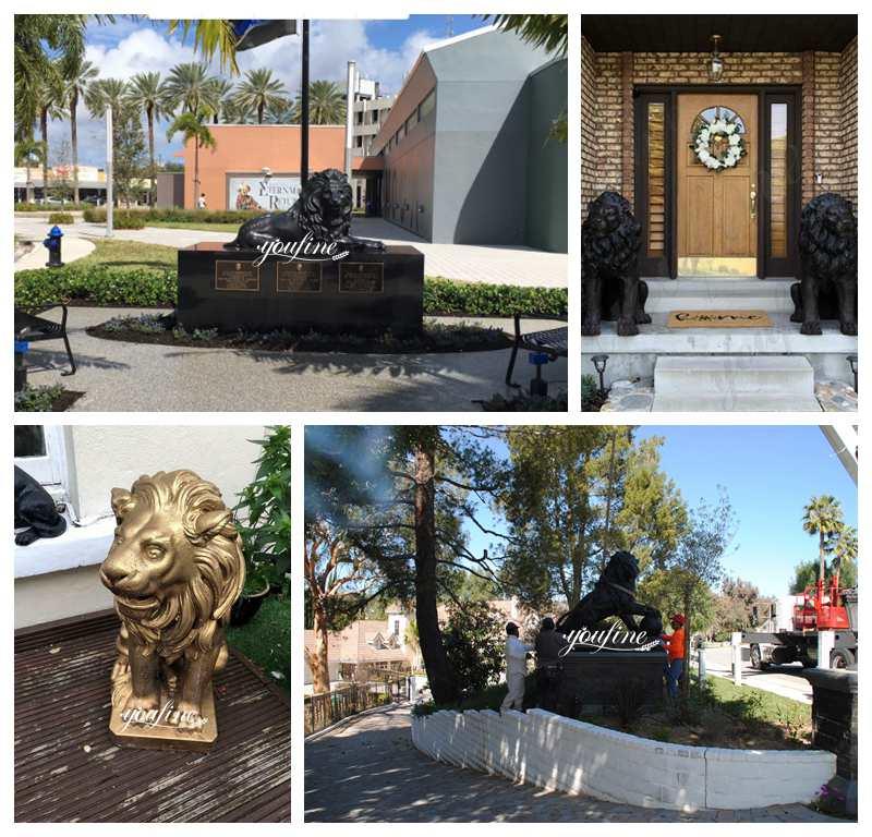 life size bronze lion statue feedback