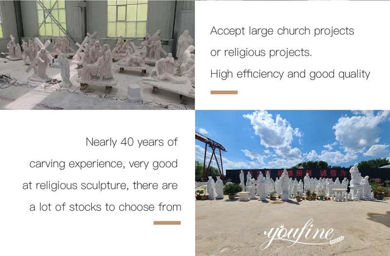 process of Catholic statue
