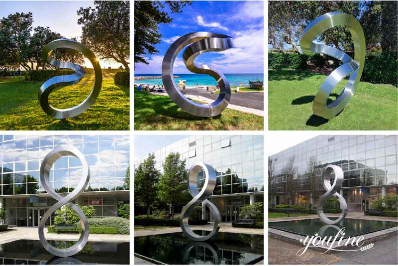 stainless steel outdoor sculpture