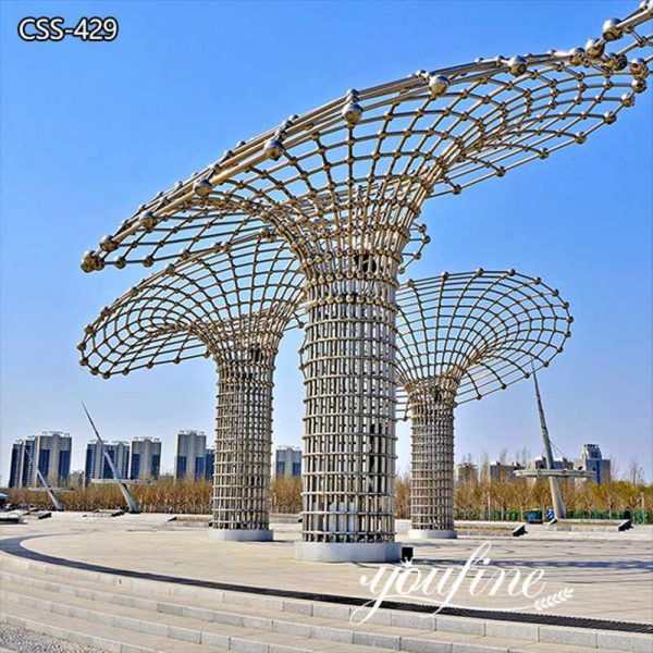 Abstract Style Outdoor Large Metal Yard Sculpture for Sale