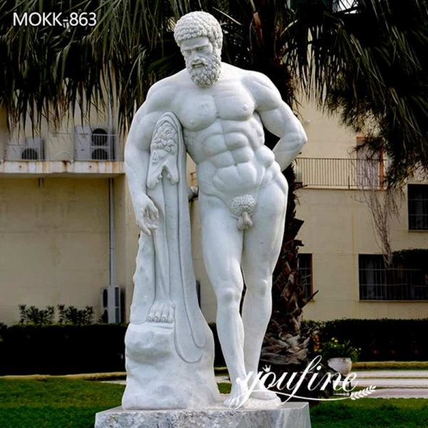 Classical Life Size Marble Farnese Hercules Statue for Sale