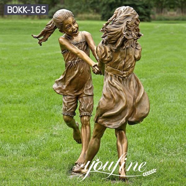 Friendship Custom Bronze girls Statue Childhood for Sale BOKK-165