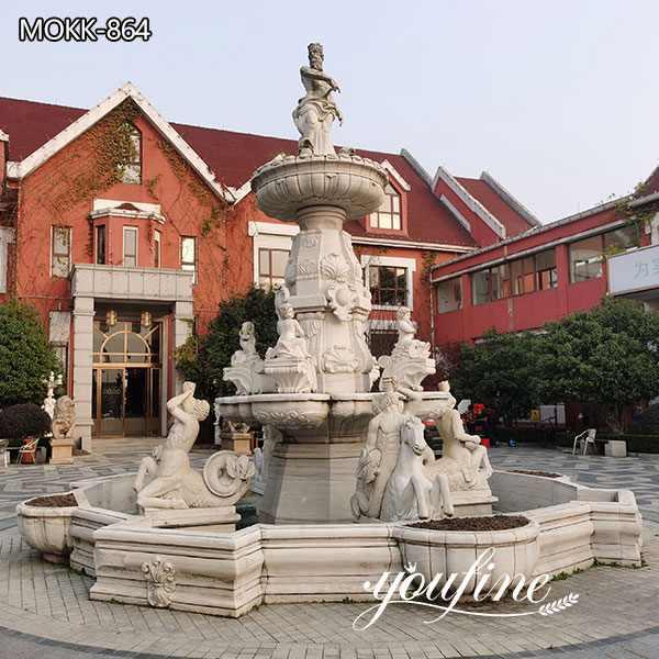 Large Marble Poseidon Fountain Manor Decoration for Sale MOKK-864
